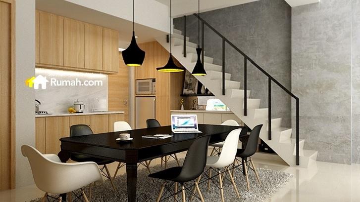 Inspirasi Desain Interior Hunian Ber a Mezzanine