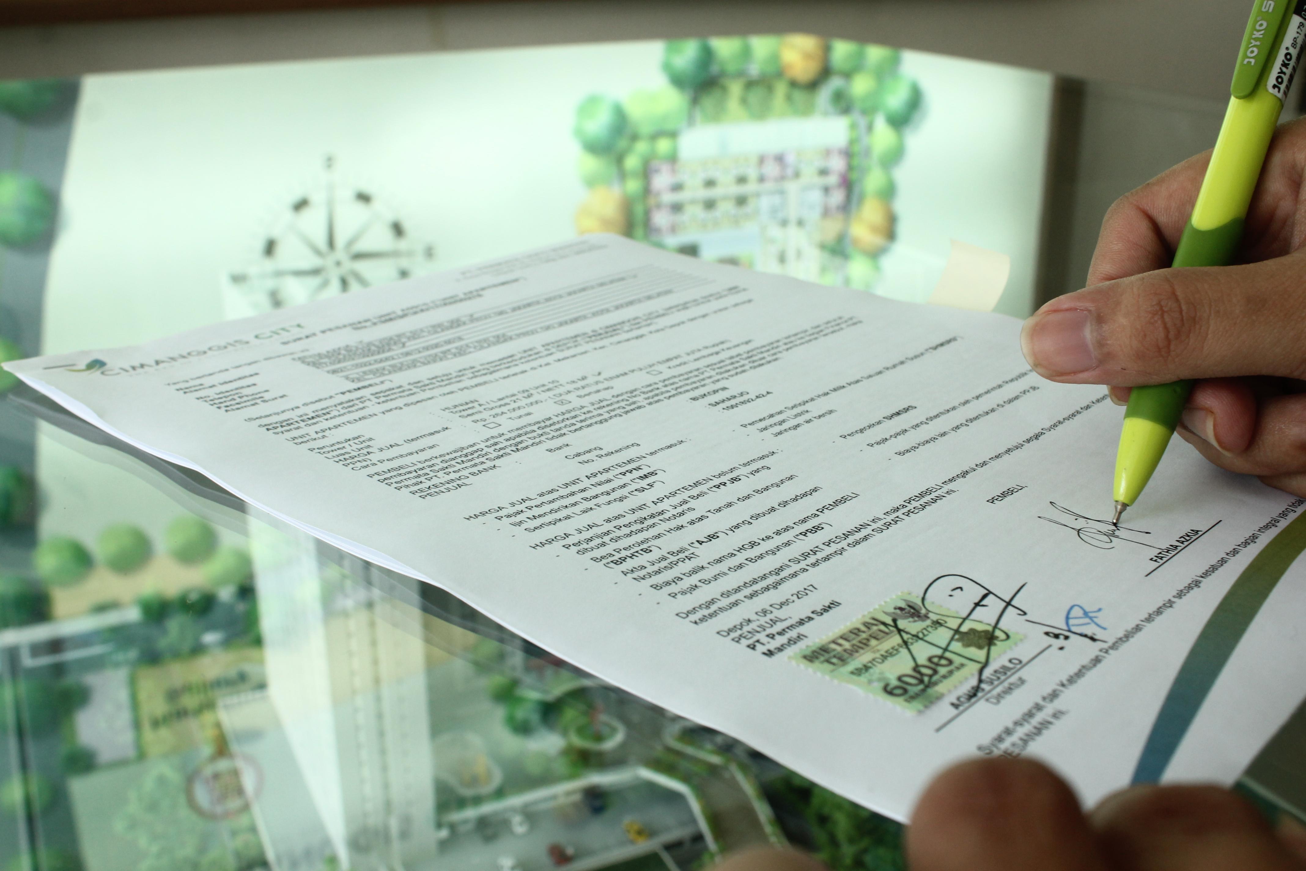 Contoh Surat Tanda Terima Dp Rumah Rumahcom