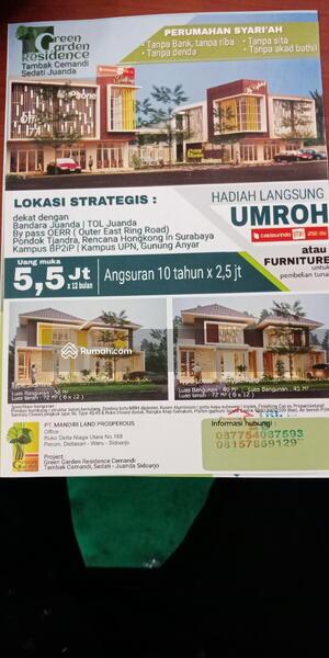 Jl Tambak Cemandi Balai Desa Tambak Cemandi Sedati Sidoarjo Jawa Timur 2 Kamar Tidur 45 M Rumah Dijual Oleh Fredy Andik Rp 366 Jt 15005918