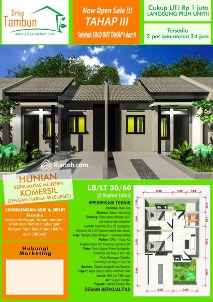Rumah Subsidi Di Tambun Type 30 60 Shm Cicilan Flat 900 San Ribu