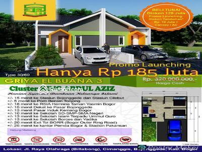 Rumah Dijual, di Bawah Rp 200 Jt, di Bojonggede, Bogor   Rumah