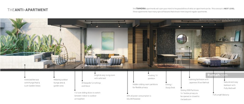 """The Tamora"" Apartement Next Level di Canggu, dekat Finns Club #89975156"