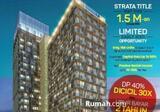 Dijual Apartement HQUARTERS Business Residence Unit L 54 m2, Di Asia Afrika Kota Bandung