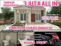 Dijual - Cluster 15 Menit St. Citayam 3jt Free Biaya All In