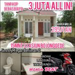 Cluster 15 Menit St. Citayam 3jt Free Biaya All In