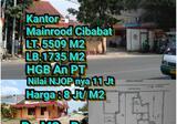 Dijual Kantor Mainroad Cibabat 8jt/meter2
