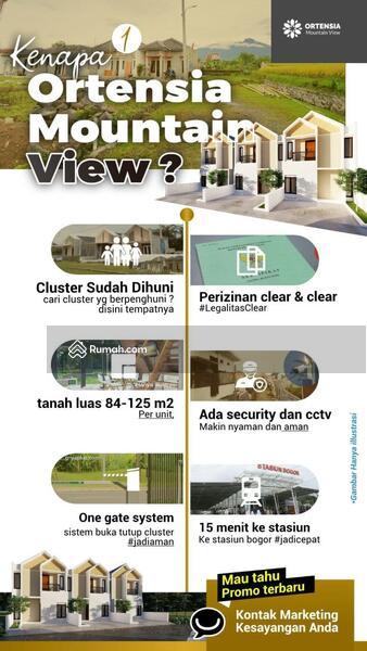 Rumah Syariah *ORTENSIA VIEW* Baru [2/1 LANTAI] Murah di Ciomas Dekat Stasiun Kota Bogor Jual Dijual #103225134