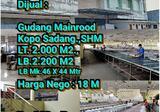 Dijual Gudang Mainroad Kopo Sadang