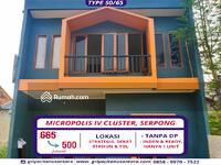 Dijual - MICROPOLIS IV, Hunian Asri 2 Lantai Termurah dan Strategis di Serpong, Tangerang Selatan ! !!