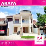 Rumah Baru 2 Lantai Luas 162 di PBI Araya kota Malang _ 020. 20