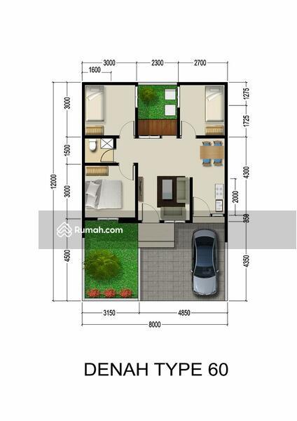 Rumah 3 kamar tidur di cluster emerald garden free BPHTB #101830256