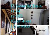 Rumah kos di pusat kota sayap jl M Toha
