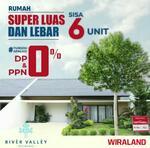 River Valley Residence ( Type Sapphire+ ) Sisa 6 - Gratis Biaya KPR & Pajak, DP & PPN 0%