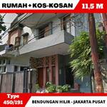 Rumah, 15 KT kos-kosan, paviliun  Bendungan Hilir Jakarta Pusat. Dekat GBK, bundaran Semanggi