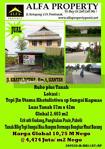 Ruko Khatulistiwa Siantan Pontianak Kalimantan Barat #97180622