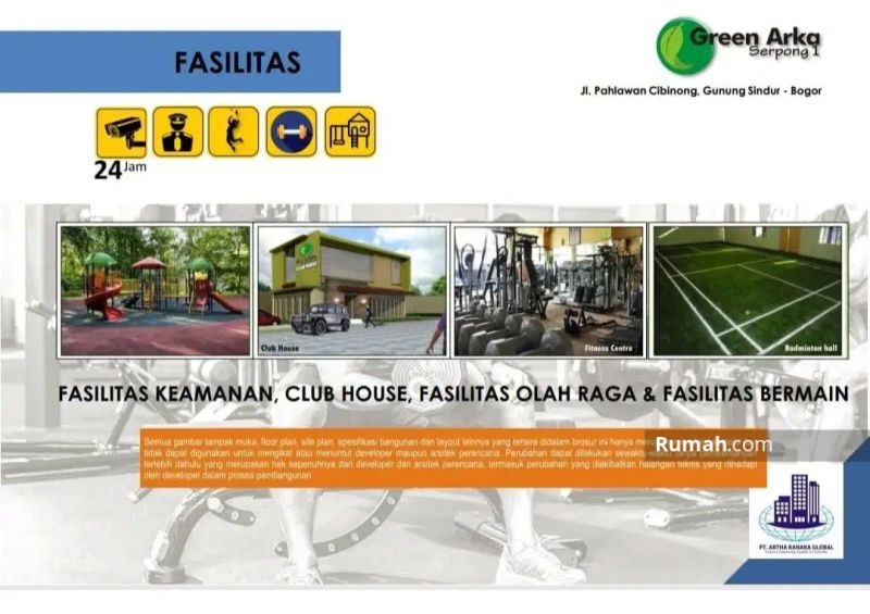Green Arka Serpong, Rumah Tingkat Mewah Harga 1 Lantai MD762 #97781684