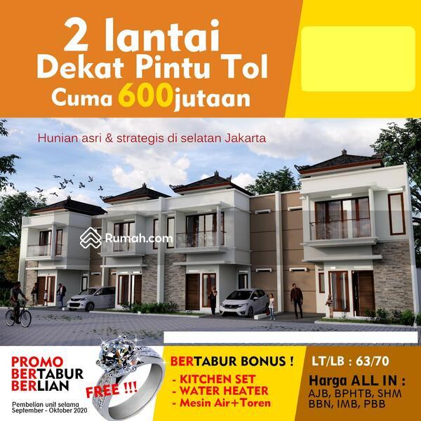 Rumah 2 Lantai Sawangan Depok, Akses Tol dan Stasiun KRL, Mewah Gaya Bali Gratis Biaya #99578410