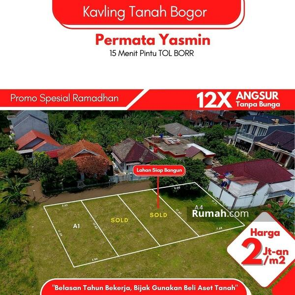Strategis, 1,2 KM Terminal Bubulak, Kavling Tanah Yasmin Indah, Bogor #105170108