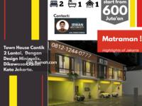 Dijual - Rumah Cluster Murah Di Pramuka, Rumah Murah Matraman