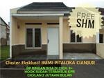 Dijual Rumah Baru Minimalis Modern di  Bumi Pitaloka Cianjur Bonus AC Strategis dekat Mall