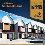 Rumah minimalis, 2 lantai - Dekat GDC, Alun-alun Depok