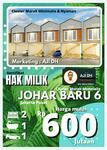 Rumah Murah Minimalis Modern Strategis Cluster Johar VI Jakpus