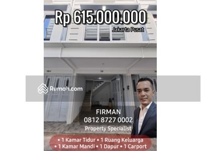 Dijual - Rumah Murah Cluster Di Johar Baru Jakarta Pusat. Harga Apartemen Murah