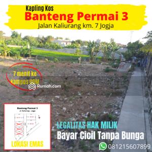 Dijual - Dekat kampus UGM, tanah kapling lingkungan kost di Jogja.