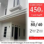 Rumah dijual di Cimanggis, dekat gerbang Tol Cimanggis & Cisalak(Tol Cijago)