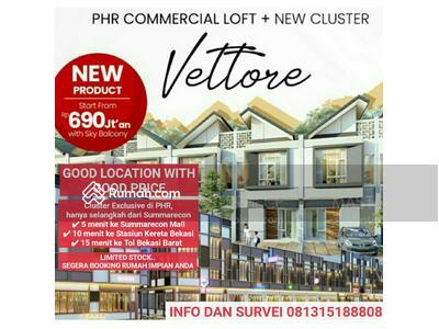 Dijual - Rumah 2 Lantai di Cluster Exclusive PHR nempel dengan Summarecon Bekasi
