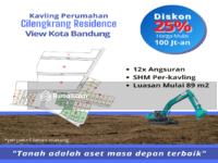 Dijual - 1 jutaan Area Cilengkrang, View Kota Bandung, Bonus Emas 25g