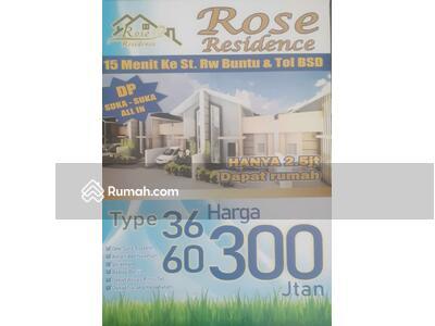 Dijual - Dijual Rumah Rose Residence Tipe 36/60 15 Menit Ke Stasiun Rawa Buntu