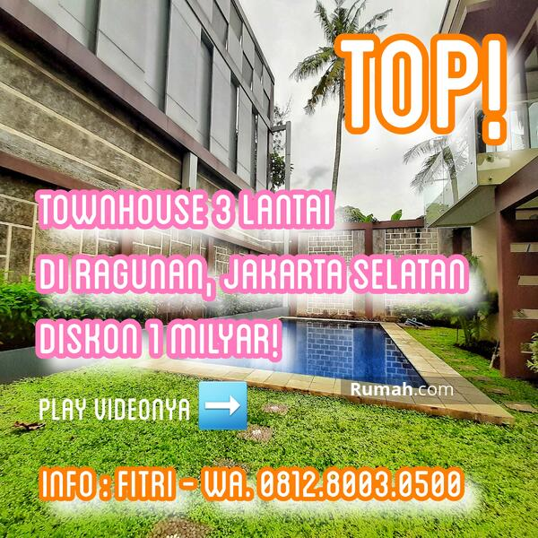 READY STOCK! Siap Huni. Town House Mewah 3 Lantai di Ragunan, Jakarta Selatan #101839912