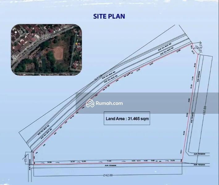 Tanah Komersial 3,1 Ha Prime, Vila Melati Mas Raya, Akses Raya Serpong #102597116