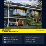 Rumah Bekasi Golden City Cluster Greenwood Tipe Redwood 4+1 Kamar Tidur