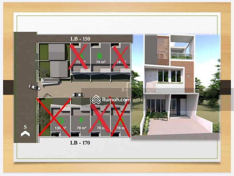Rumah mewah bata merah, 3 lantai cocok utk keluarga besar #105423856