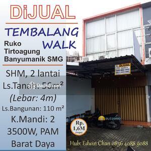 Dijual - DIJUAL Ruko di Tembalang Walk, Semarang