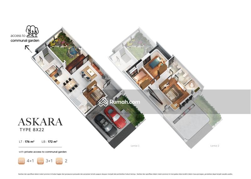 Rumah premium brahmapuri with private access to communal garden #103524028
