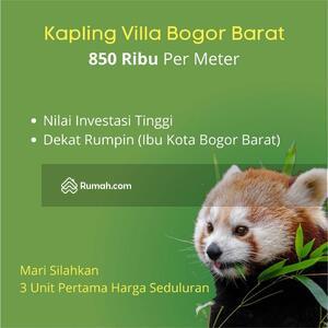 Dijual - Ciamik Bangun Villa, 850 Ribu Saja. Kapling Tanah Perumahan Dekat Ibu Kota Kab. Bogor Barat