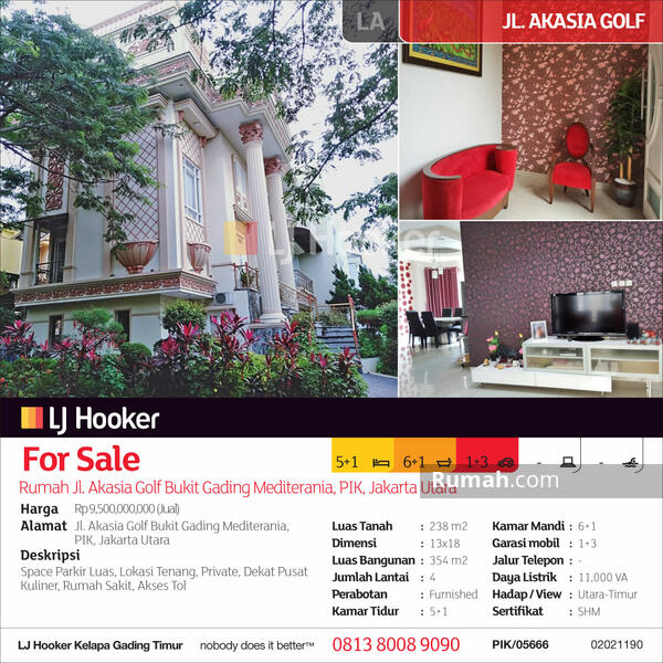 Rumah Jl. Akasia Golf, PIK #103835988