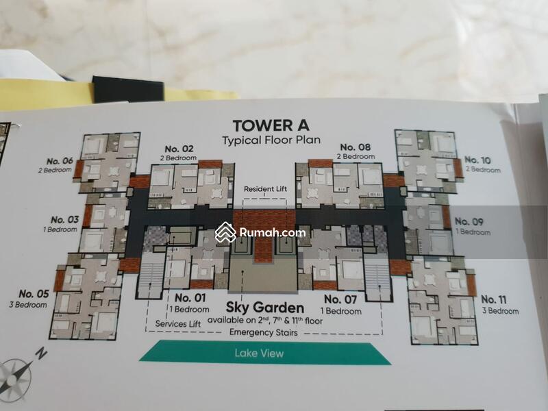JUAL APARTEMEN CITRA 6 LAKE SUITES TOWER A 1 BIG BEDROOM 54.5m2 FULLYFURNISH MEWAH #103841994