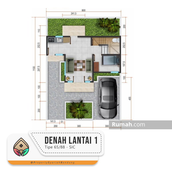 Rumah Dijual 2 lantai di Cimuncang, Pasirhonje. Dekat ke Pusat Kota Bandung #103920060