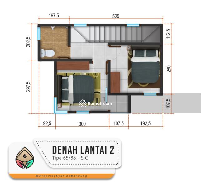 Rumah Dijual 2 lantai di Cimuncang, Pasirhonje. Dekat ke Pusat Kota Bandung #103920064