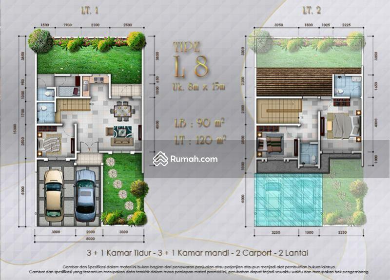 Dijual cepat rumah siap huni 2lt 8x15 120m Type 3KT Cluster Thames JGC Jakarta Garden City #105919896