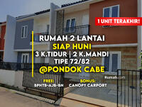 Dijual - 1 Unit Terakhir Rumah Siap Huni Dekat Pintu Tol Cinere - Serpong