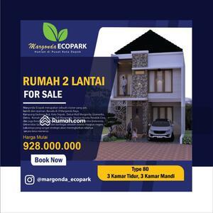 Dijual - 2 Bedrooms Rumah Margonda, Depok, Jawa Barat