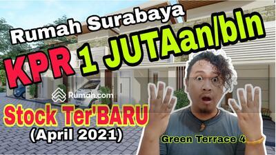 Dijual - Rumah Murah Surabaya, KPR 1 Juta an, Rumah Minimalis Surabaya - Green Terrace 4