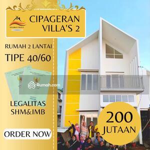 Dijual - Rumah Murah Cipageran Villa's 2 hanya 257jt Bisa dapat 2 Lantai