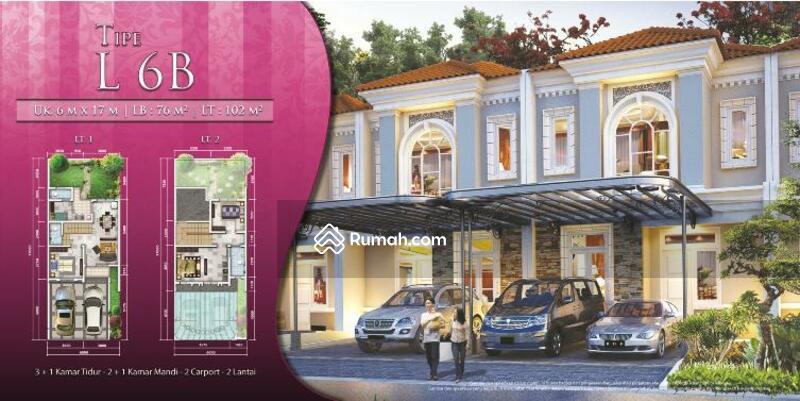 Rumah siap huni 2Lantai Luas 6x17 Type 3KT Cluster La seine JGC Jakarta Garden City Cakung #105094454