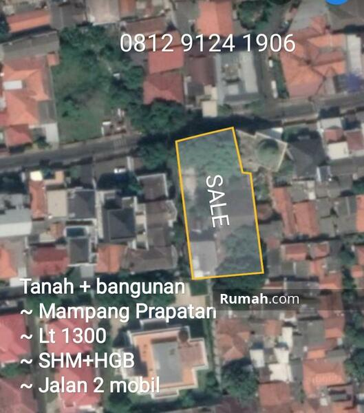 Tanah plus bangunan harga NJOP di Mampang Prapatan Jakarta Selatan #105167992